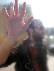 Professor behind the glass: photo from young people's photography workshop