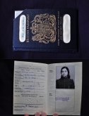 Androulla Satanas' first travel document, her British Passport