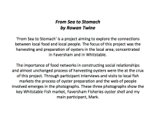 From Sea to Stomach - Rowan Twine, project description