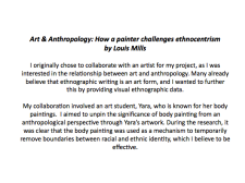 Art & Anthropology: How a Painter Challenges Ethnocentrism - Louis Mills