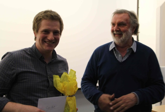 Simon Holt receives the David Pick Documentary Prize.