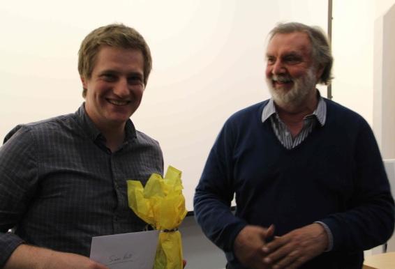 Simon Holt receives the David Pick Documentary Prize.