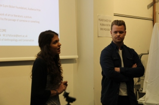 Christina Stavridi & Calum Rolfe during the Q&A for their films.